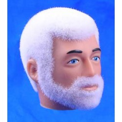Tête de Joe repro barbu blanc