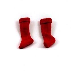 Chaussettes rouges réédition pour Action Joe cordée dans les rocheuses